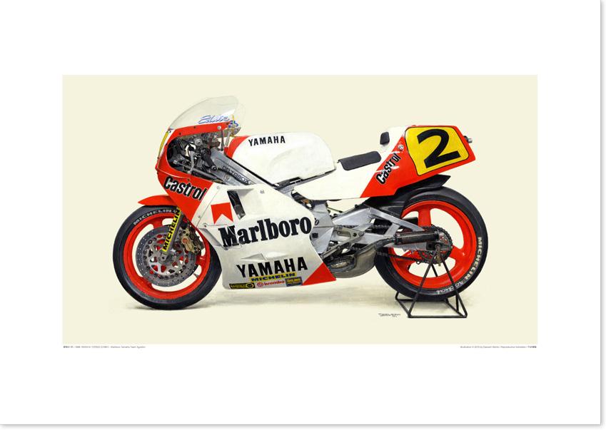 Photo1: 1986 YAMAHA YZR500 (0W81) - Marlboro Yamaha Team Agostini