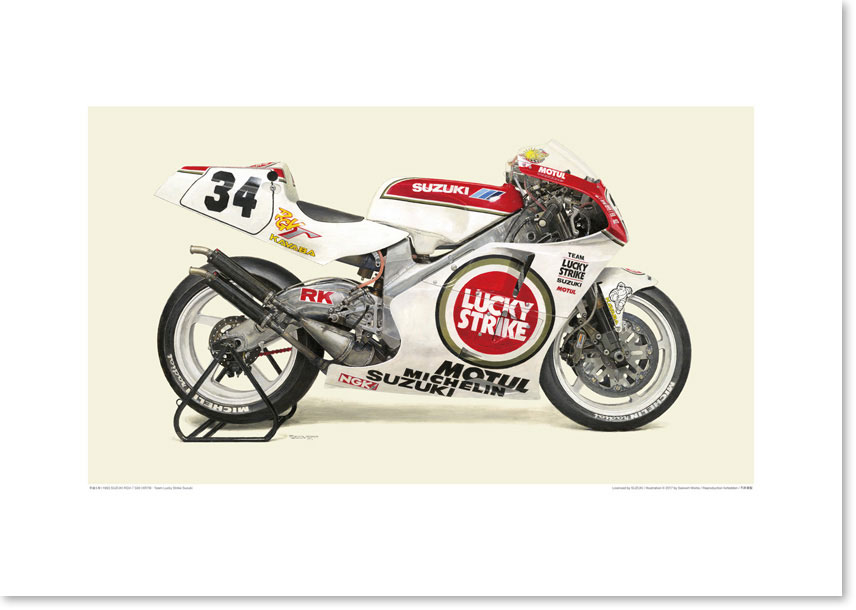 Photo1: 1993 SUZUKI RGV-Γ500 (XR79) - Team Lucky Strike Suzuki